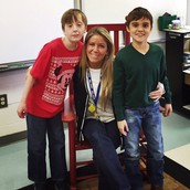 Here is a picture of Braxton, Joshua, and I! I can't believe this is my 4th year teaching them!!