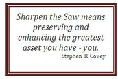 How do we sharpen the saw?