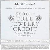 Free jewelry credit!