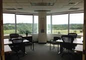 Team Space in Crossroads Corporate Center. PERFECT for collaborative workspace for up to 8 people!