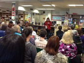 Authors Visit Robert T. Hill Middle School Library