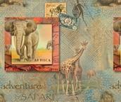 African Safari - Digitally Printed