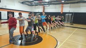 Ms. Moser's PE doing the bunny hop!