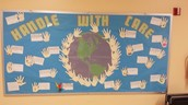 5th grade Earth Day bulletin board