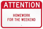 DAILY Parent Homework for this weekend...