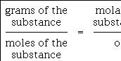 Formula for a mole