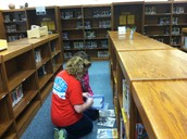 Removing labels of books to be disposed