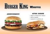 The ad burger is much more different than the real one....