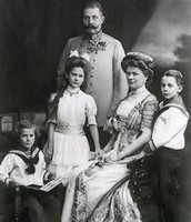 Franz Fernidand with wife and children