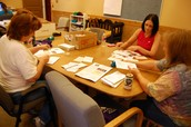 Ladies from FBC Texarkana help with a mass mail out