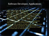 software developers, applications 2nd
