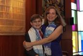 My mom and I at my Bar Mitzvah