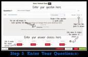 Entering a Question