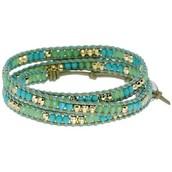 Wanderlust Triple Wrap Bracelet- Turquoise