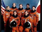 Mae and the six other astronauts, 1992.