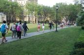 Walking to class