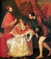 Pope Paul III and his grandsons (1545)
