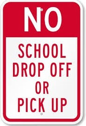Drop off and pick up reminders!