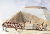 How Egyptians built the pyramids with out using modern tools