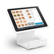 iPad with Square Stand and Barcode Scanner