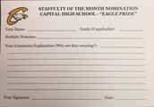 Staffulty of Month Ballot