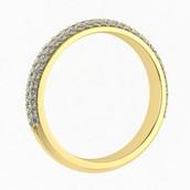 Trio Diamond Ring in Yellow Gold