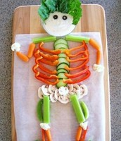 person made out of heathy foods