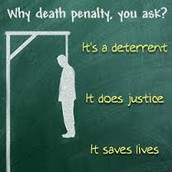 I believe that the death penalty is acceptible