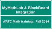 BlackBoard & Pearson MyMathLab Integration Presentation