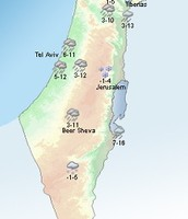 Climate Map Of Israel