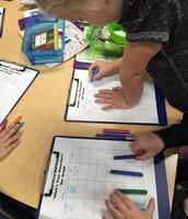 Kindergartners create bar graphs
