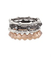 Katelyn Mixed Metal Rings - size 9
