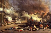 The Massacre of Swiss Guards from Napoleon's Troops
