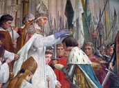 Popes and Bishops anoint the Kings