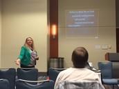 Lande Brady presenting PLE in a 21st Century Classroom