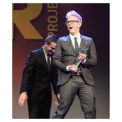 Tyler winning the youth innovator award
