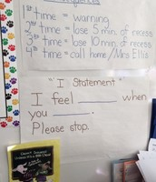 Anchor chart in Mrs. Jones' class
