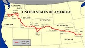 A Map of The Oregon Trail