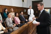 Lawyer before a jury