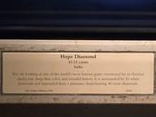 The Hope Diamond's Plaque.