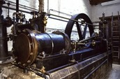 Steam Engine in factory