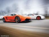 Lamborghini Gallardo and Porsche GT3