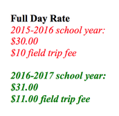 Full Day Tuition Increase