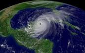 A Hurricane advancing towards North America