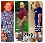 Our buddy Stuart! 60 years old and down over 100lbs!