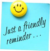Reminders!!!!