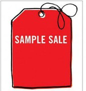 Cash and personal checks only for sample sale items!