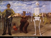 Four inhabitants of Mexico City.  Frida's painting