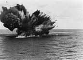 HMS Braham explodes