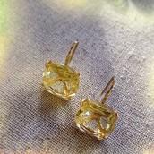 Cushion Drop Earrings- citron $34 Now $20